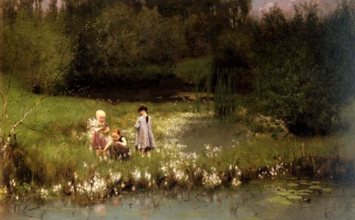Picking Blossoms by Emile Claus