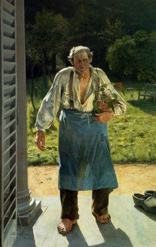 The Old Gardener by Emile Claus