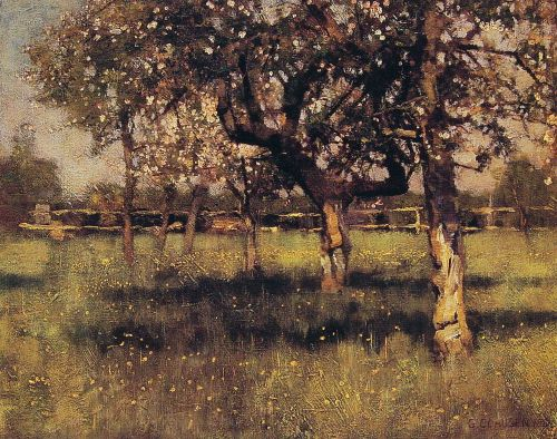 An Orchard in May by George Clausen