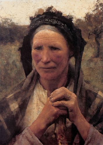 Head of a Peasant Woman by George Clausen