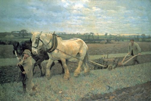 Ploughing by George Clausen
