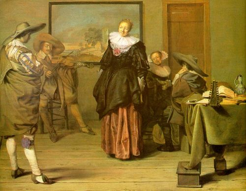 The Dancing Lesson by Pieter Codde