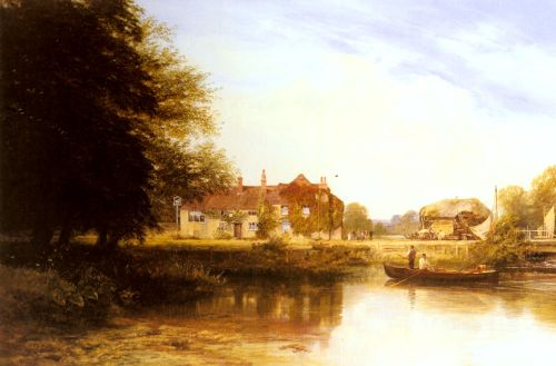 The Swan at Pangbourne by George Vicat Cole