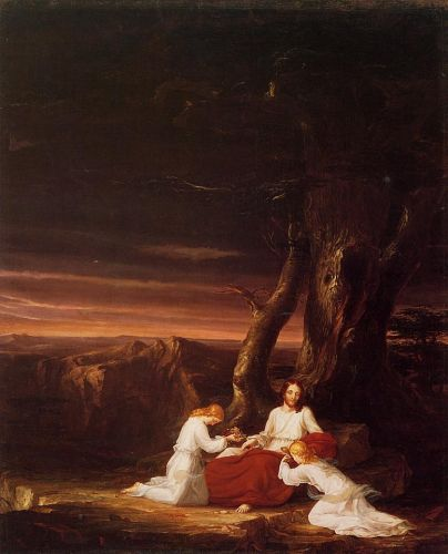 Angels Ministering to Christ in the Wilderness by Thomas Cole