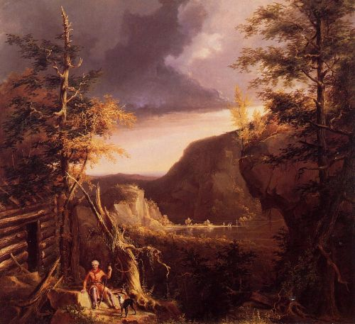 Daniel Boone Sitting at the Door of His Cabin by Thomas Cole