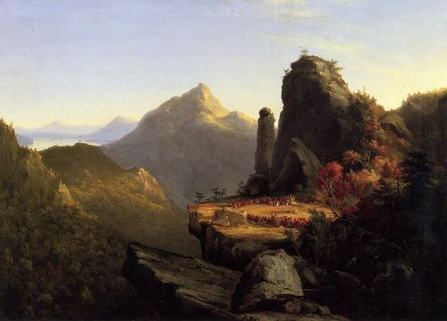 Scene from 'The Last of the Mohicans' by Thomas Cole