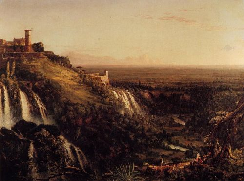 The Cascatelli, Tivoli, Looking Towards Rome by Thomas Cole