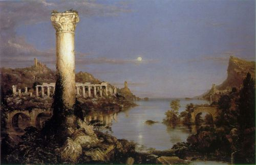 The Course of the Empire - Desolation by Thomas Cole