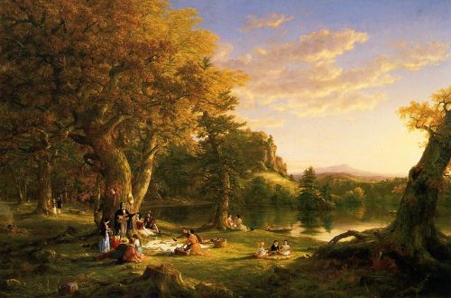 The Picnic by Thomas Cole