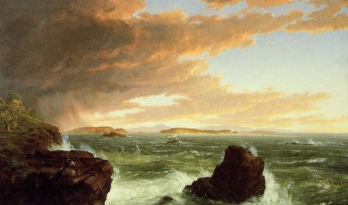 View Across Frenchman's Bay from Mount Desert Island by Thomas Cole