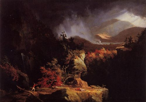 View near Ticonderoga by Thomas Cole