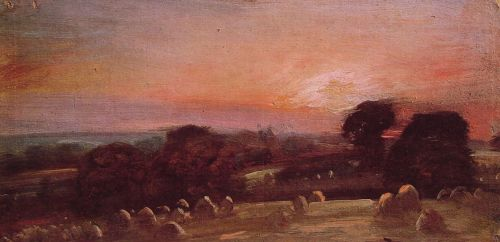 A Hayfield at East Bergholt by John Constable