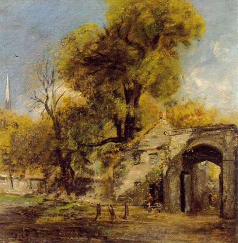 Harnam Gate, Salisbury by John Constable