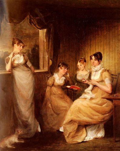 Ladies From The Family Of Mr William Mason Of Colchester by John Constable