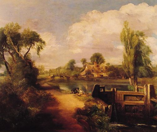 Landscape with Boys Fishing by John Constable