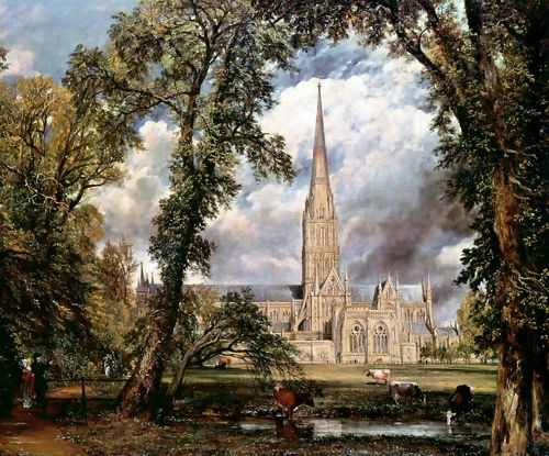 Salisbury Cathedral from the Bishops' Grounds by John Constable