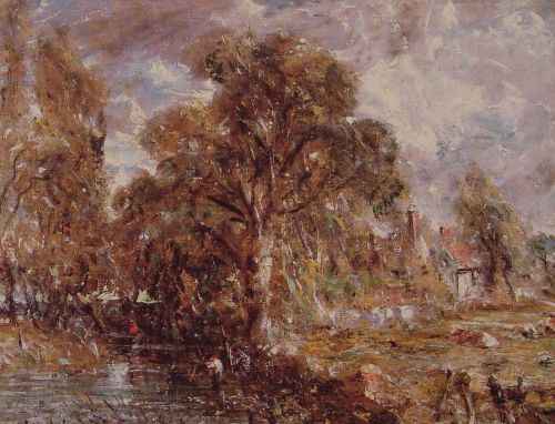 Scene on a River by John Constable