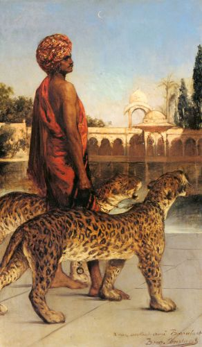 The Place Guard with Two Leopards by Benjamin Constant