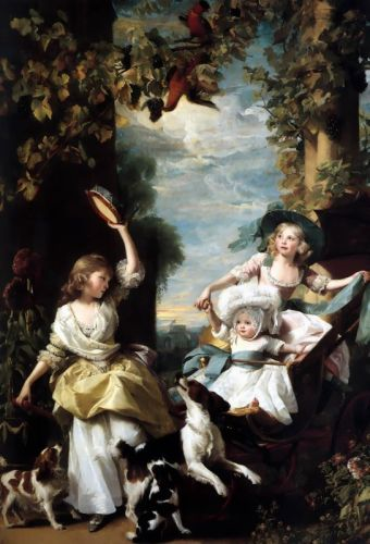 The Three Youngest Daughters of George III by John Singleton Copley