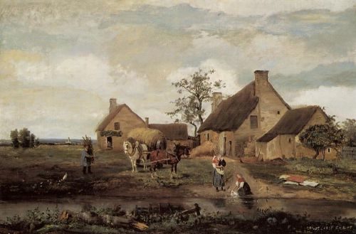 A Farm in the Nievre by Jean-Baptiste Camille Corot