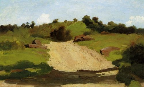 A Rising Path by Jean-Baptiste Camille Corot