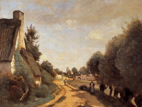 A Road near Arras by Jean-Baptiste Camille Corot