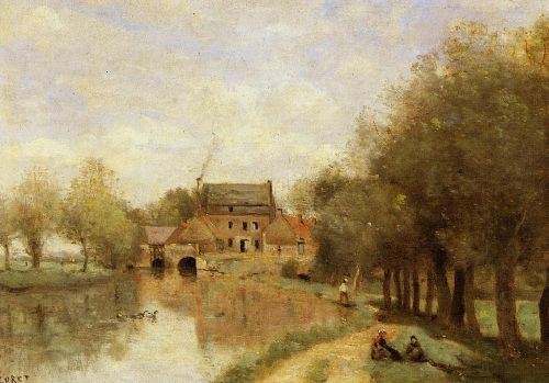 Arleux-du-Nord, the Drocourt Mill by Jean-Baptiste Camille Corot