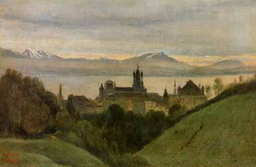 Between Lake Geneva and the Alps by Jean-Baptiste Camille Corot