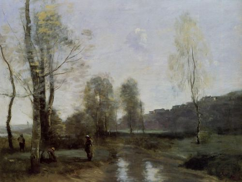 Canal in Picardi by Jean-Baptiste Camille Corot