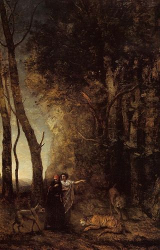 Dante and Virgil by Jean-Baptiste Camille Corot