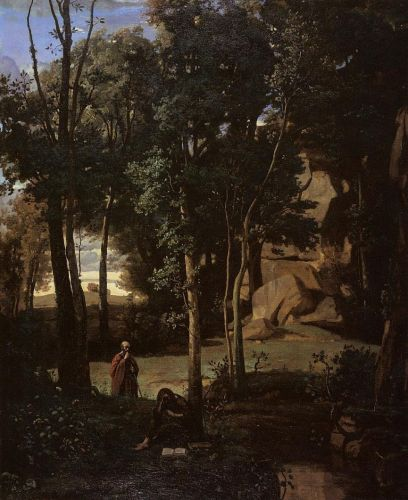 Democritus and the Abderites by Jean-Baptiste Camille Corot