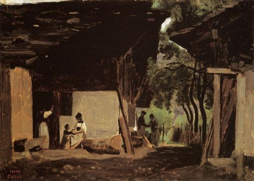 Entrance to a Chalet in the Bernese Oberland by Jean-Baptiste Camille Corot