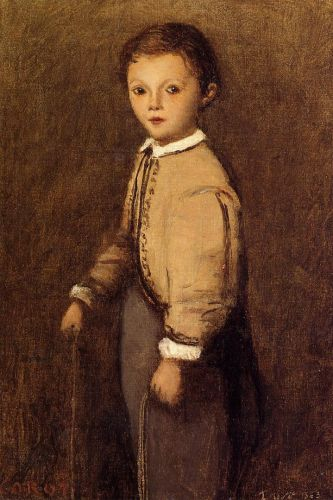 Fernand Corot, the Painter's Grand Nephew by Jean-Baptiste Camille Corot