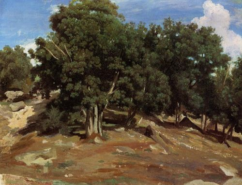 Fontainebleau - Black Oaks of Bas-Breau by Jean-Baptiste Camille Corot