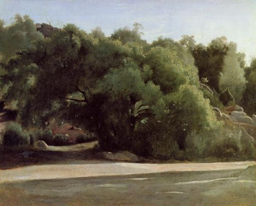 Fontainebleau - the Chailly Road by Jean-Baptiste Camille Corot