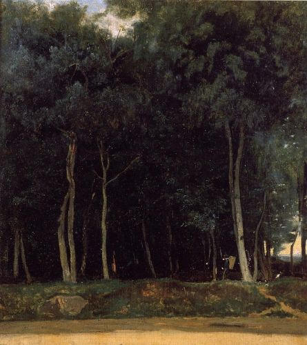 Fontainebleau, the Bas-Breau Road by Jean-Baptiste Camille Corot