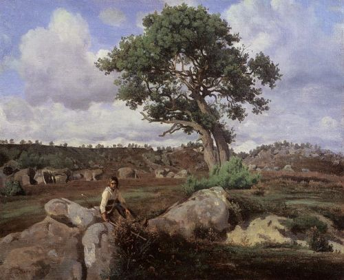 Fontainebleau, 'The Raging One' by Jean-Baptiste Camille Corot