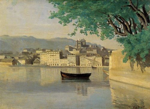 Geneva - View of Part of the City by Jean-Baptiste Camille Corot