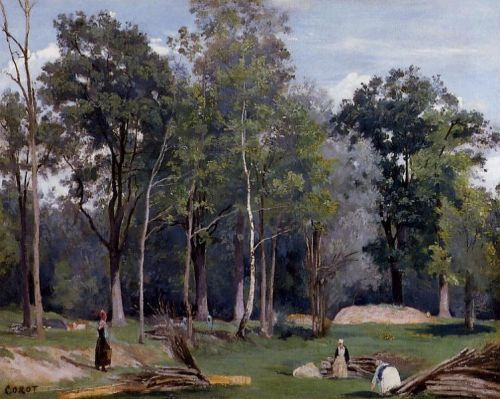 In the Woods at Ville d'Avray by Jean-Baptiste Camille Corot