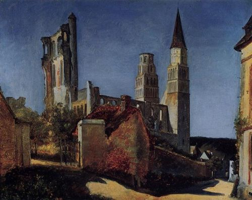 Jimieges by Jean-Baptiste Camille Corot