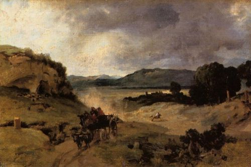 La Cervara, the Roman Countryside 2 by Jean-Baptiste Camille Corot