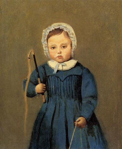 Louis Robert as a Child by Jean-Baptiste Camille Corot