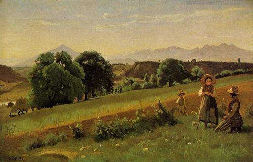Mornex Landscape by Jean-Baptiste Camille Corot