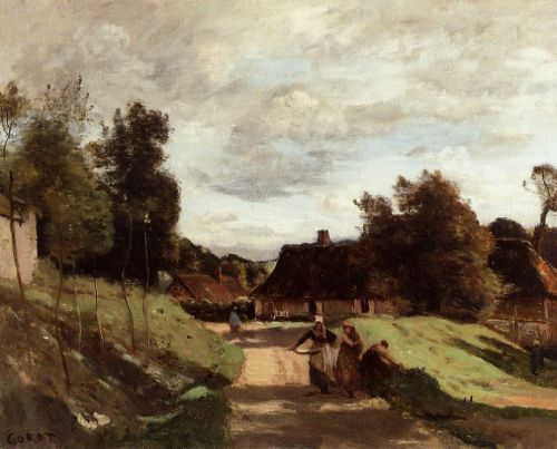 Near the Mill, Chierry, Aisne by Jean-Baptiste Camille Corot