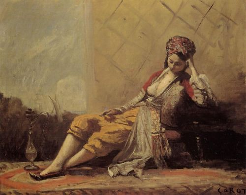 Odalisque by Jean-Baptiste Camille Corot