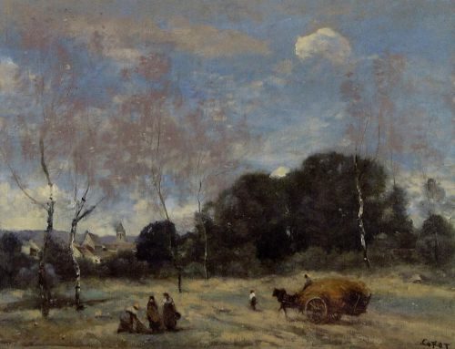 Return of the Hayers to Marcoussis by Jean-Baptiste Camille Corot