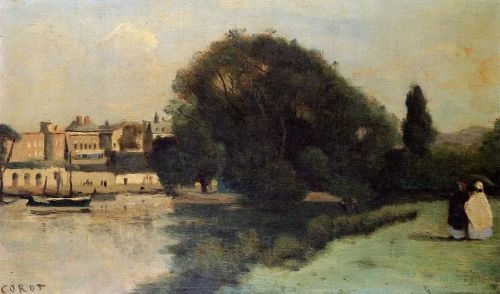 Richmond, near London by Jean-Baptiste Camille Corot