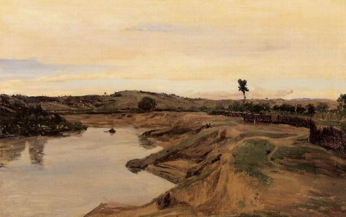 Roman Campagna by Jean-Baptiste Camille Corot