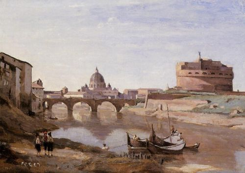 Rome - Castle Sant'Angelo by Jean-Baptiste Camille Corot