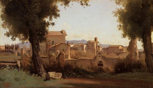 Rome - View from the Farnese Gardens, Morning by Jean-Baptiste Camille Corot